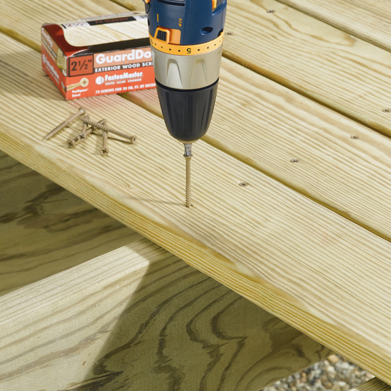 Exterior Deck Boards : Guarddog exterior wood screw quot sq ft schillings