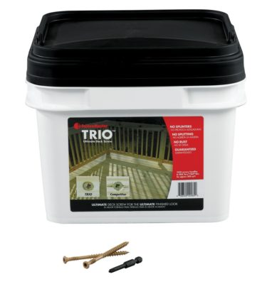 trio decking screws bucket