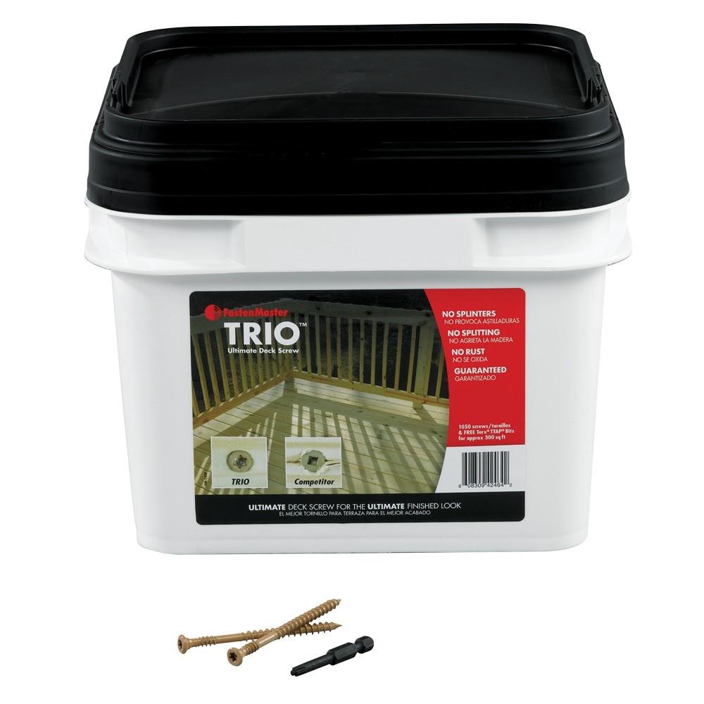 trio decking screws bucket