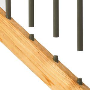 black stair connector from deckorators