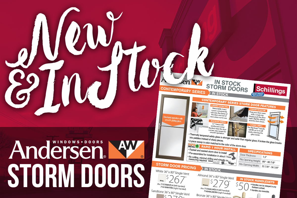 800 #BF470C Andersen Storm Doors New And In Stock By John White Andersen  save image Andersen Commercial Doors 45371200