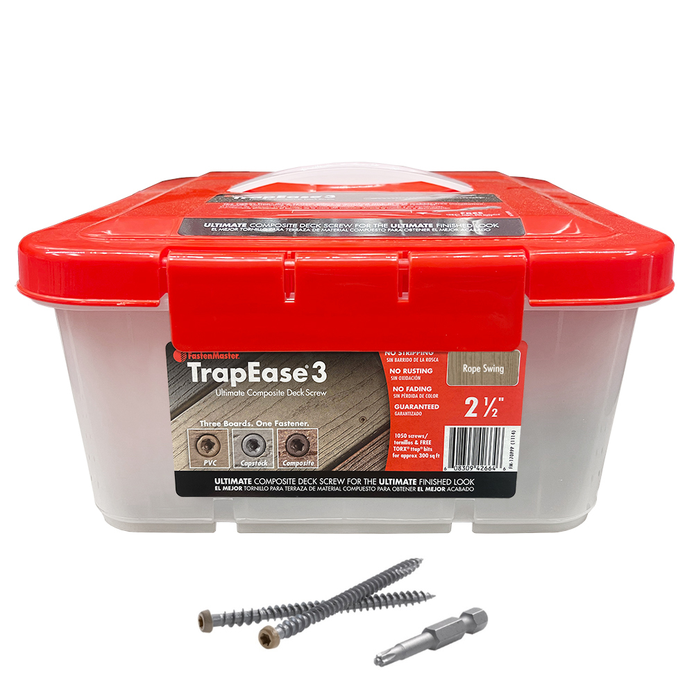 """2-1/2"""" TrapEase 3 Composite Deck Screw 1050 Count - Rope Swing"""