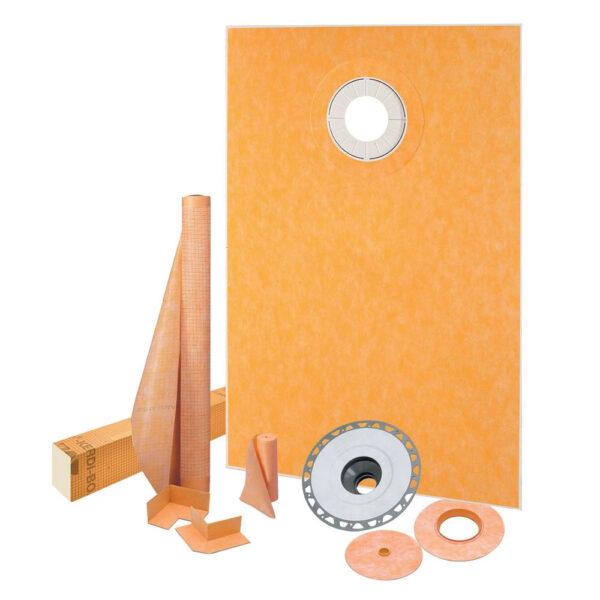 38x60 Off-Center Shower Drain Kit - KSK9651525SPVC