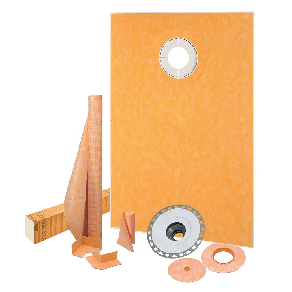 38x60 Off-Center Shower Drain Kit - KSK9651525SPVC