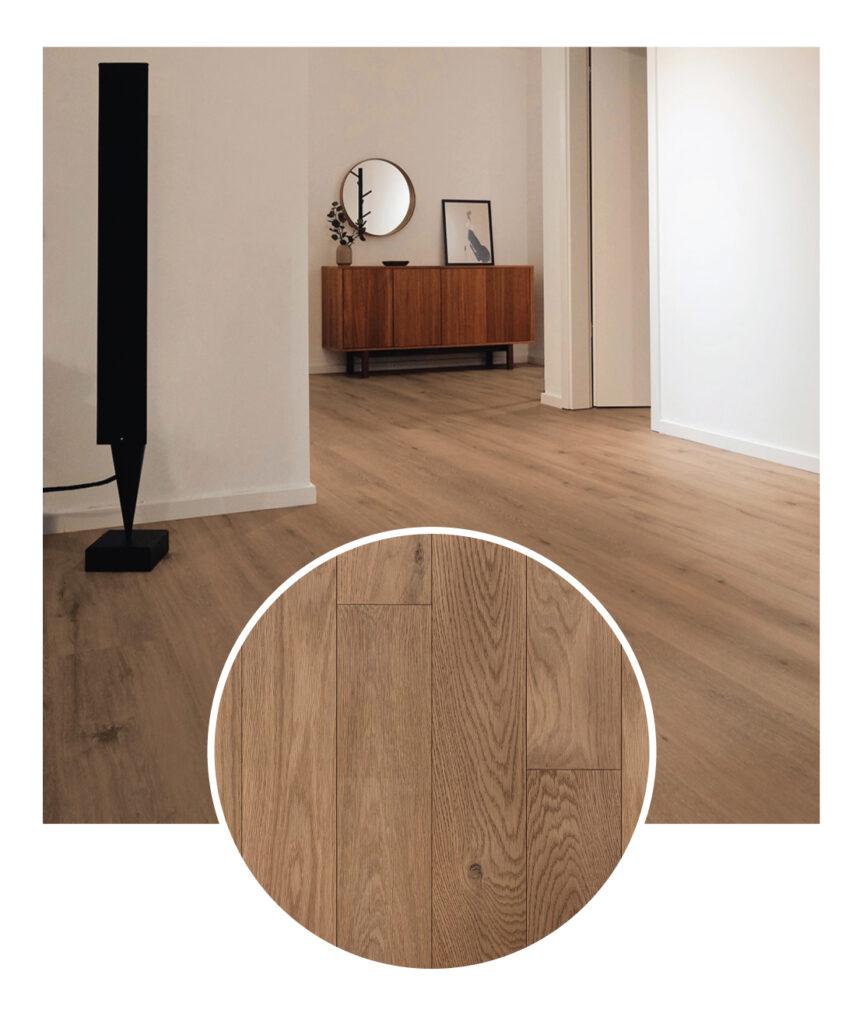 Wickham White Oak Elegance Hardwood Flooring Sample Hallway
