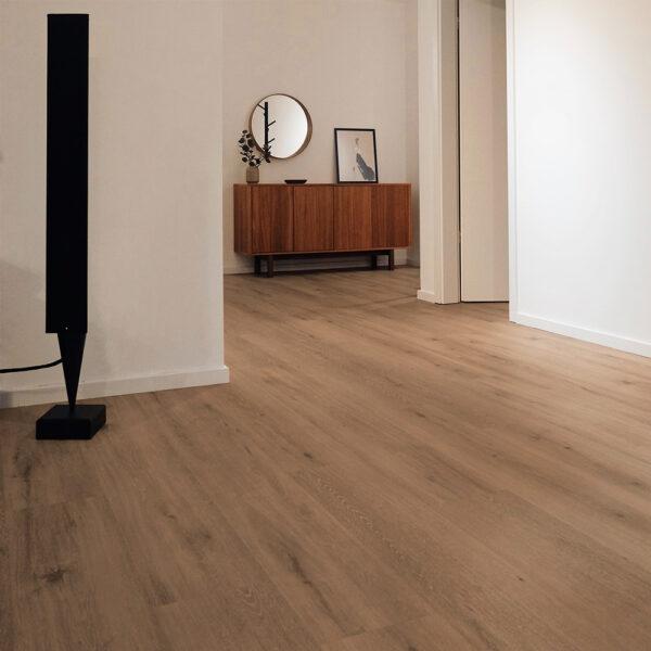 Hallway with Wickham White Oak Elegance Hardwood Flooring