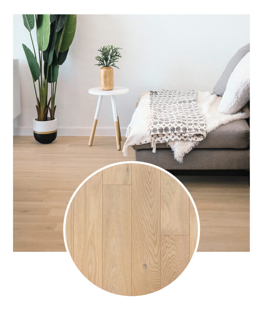 Wickham White Oak Taupe Hardwood Flooring Sample Room