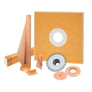 48x48 Center Drain Shower Kit - KSK1220PVC