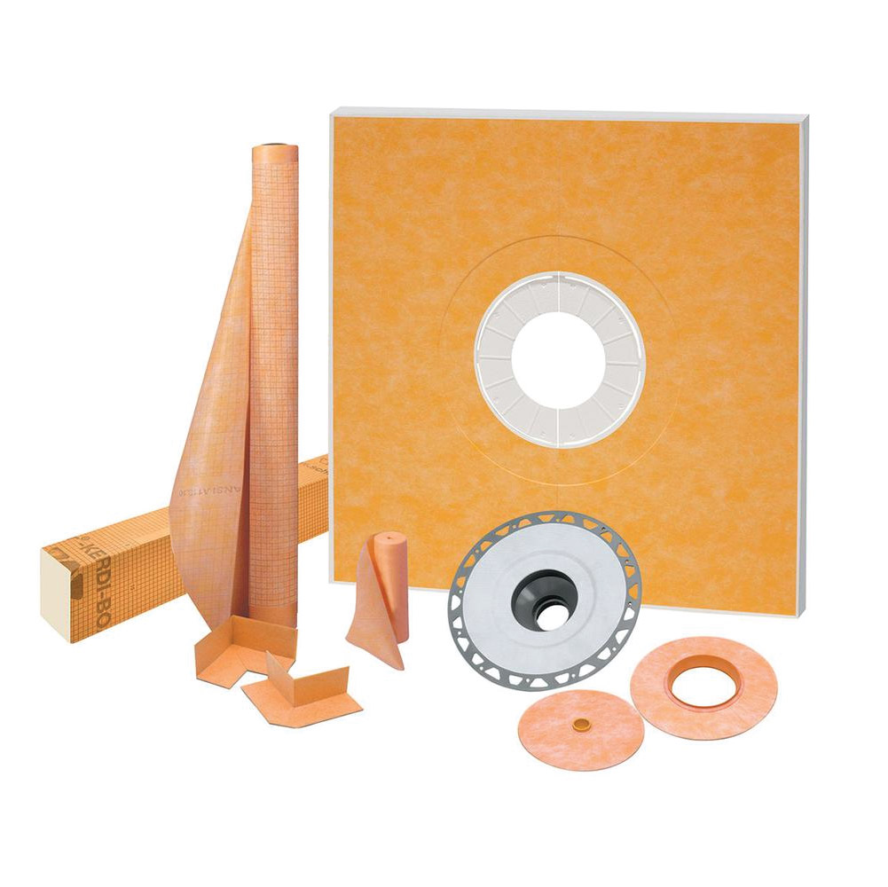 48x48 Center Drain Shower Kit - KSK1220PVC
