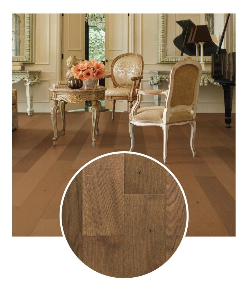 Bella Cera French Oak Camille Engineered Hardwood Flooring Sample Room