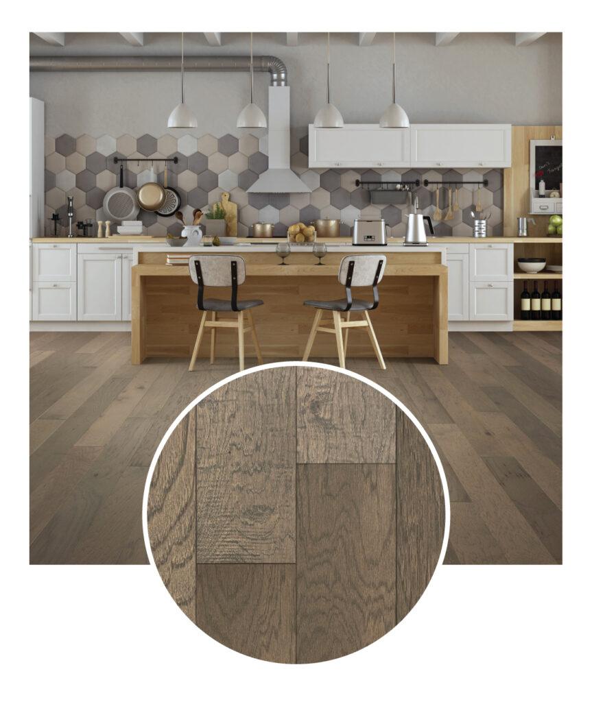 Canoe Bay Gentle Shade Engineered Hardwood Flooring Sample Room