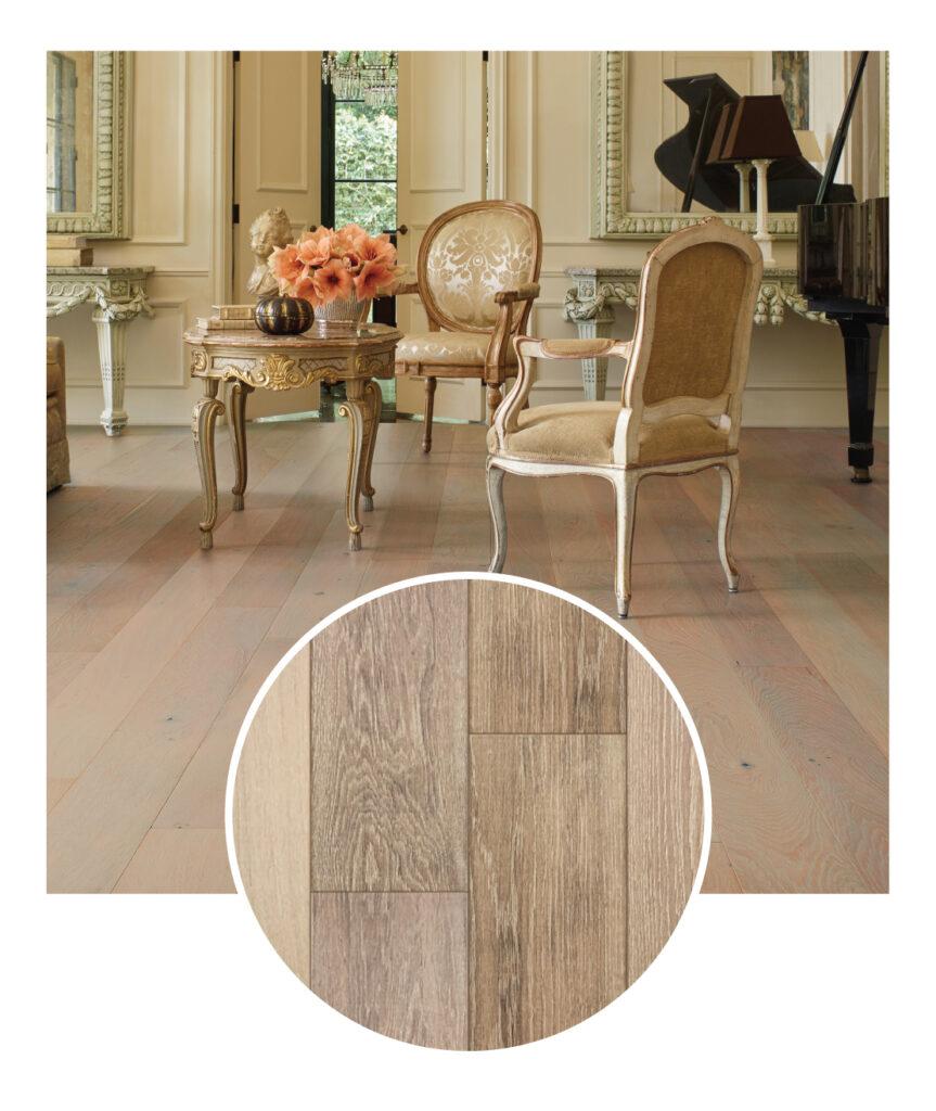Bella Cera French Oak Sunrise Engineered Hardwood Flooring Sample Room