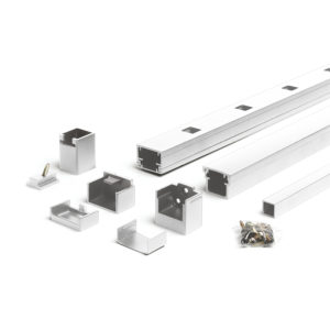 """Trex Signature Level White Rail Kit With Square Balusters 8' x 36"""""""