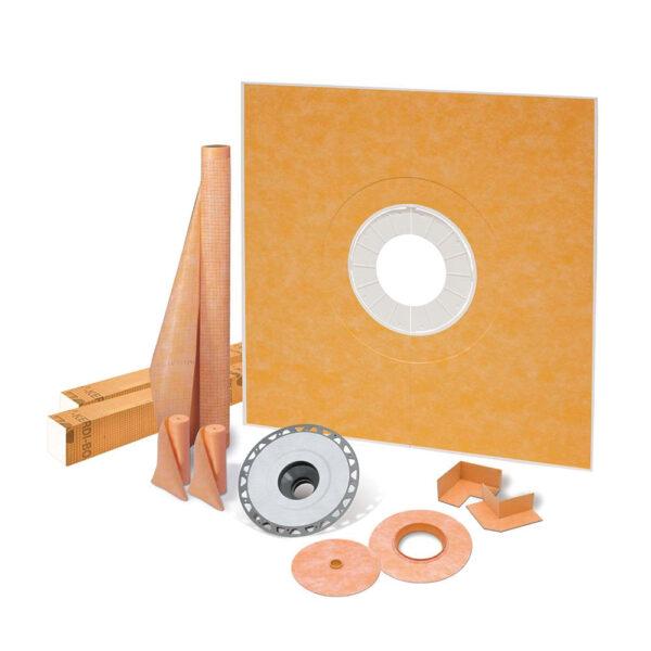 72x72 Center Shower Drain Kit - KSK9651525SPVC