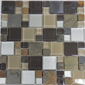 al1032 Glass tile and stone mosaic backsplash