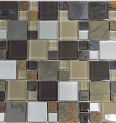 al1032 Glass tile and stone mosaic backsplash