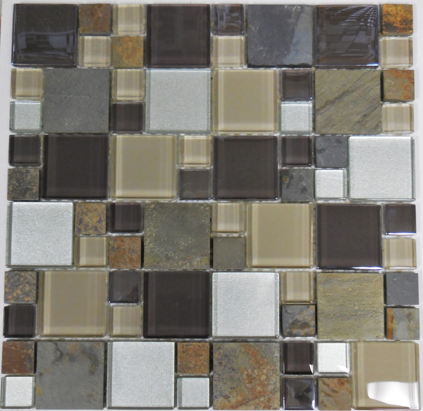 Al1032 Magnificent Modular Series Block Random Glass And Stone