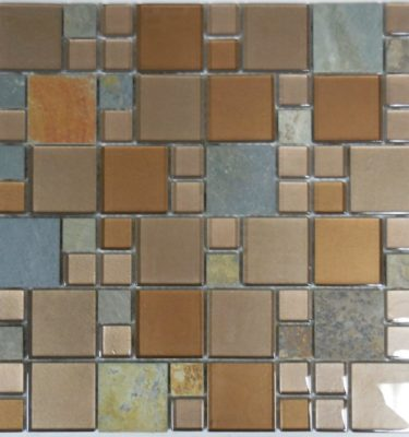 AL1650 glass tile and stone mosaic backslpash