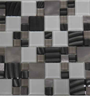 AL1725 glass tile and stone mosaic backsplash