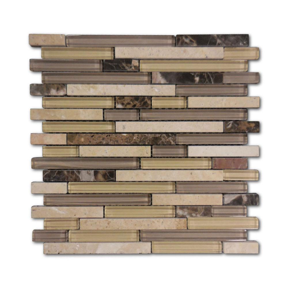 AL2840-Klassy-Series-Random-Glass-&-Stone-Strip-Mosaic