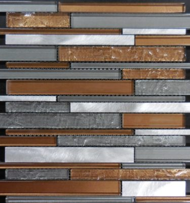 Glass tile and stone al3100 glass and metal mosaic