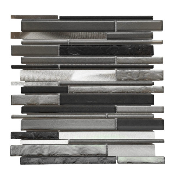 AL3200 Glass Tile and Stone, Strip Mosaic Backsplash