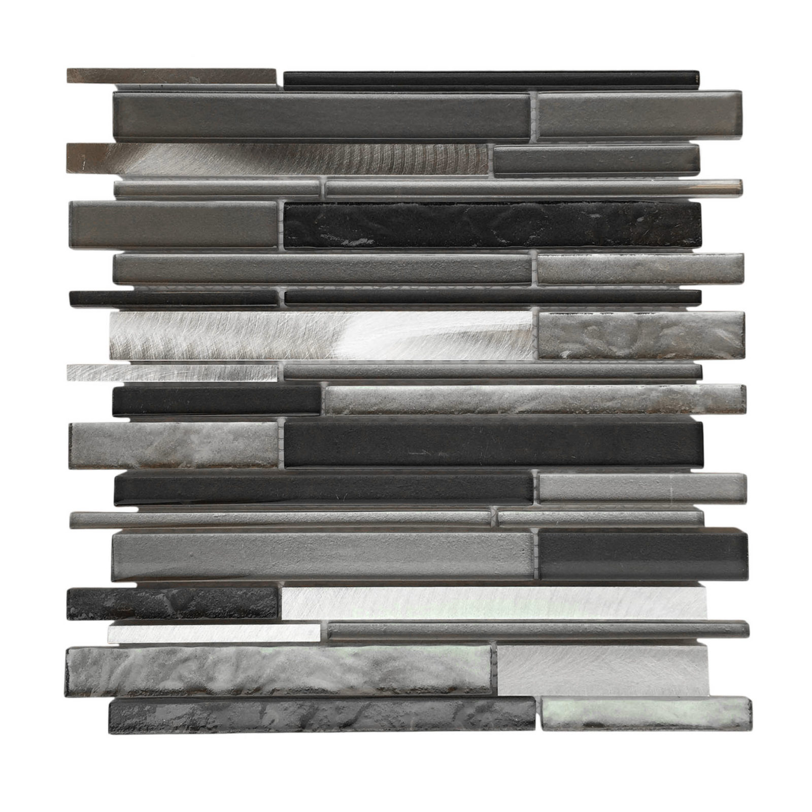 AL3200 Glass Tile and Stone, Strip Mosaic Backsplash