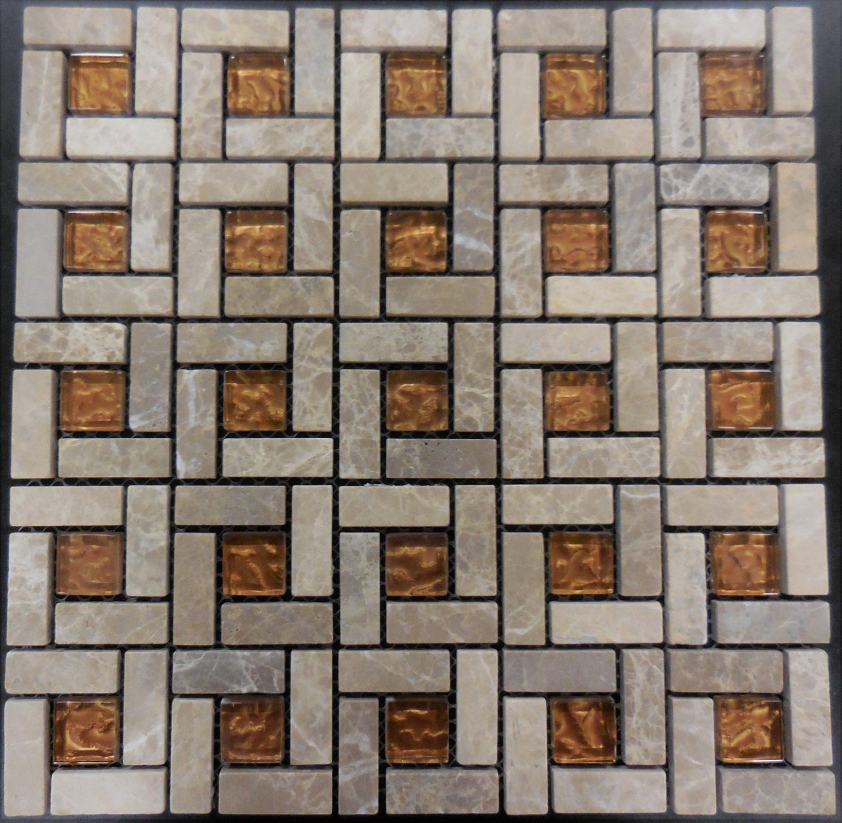 Al850 Stone Modular Series Pinwheel Pattern Glass And
