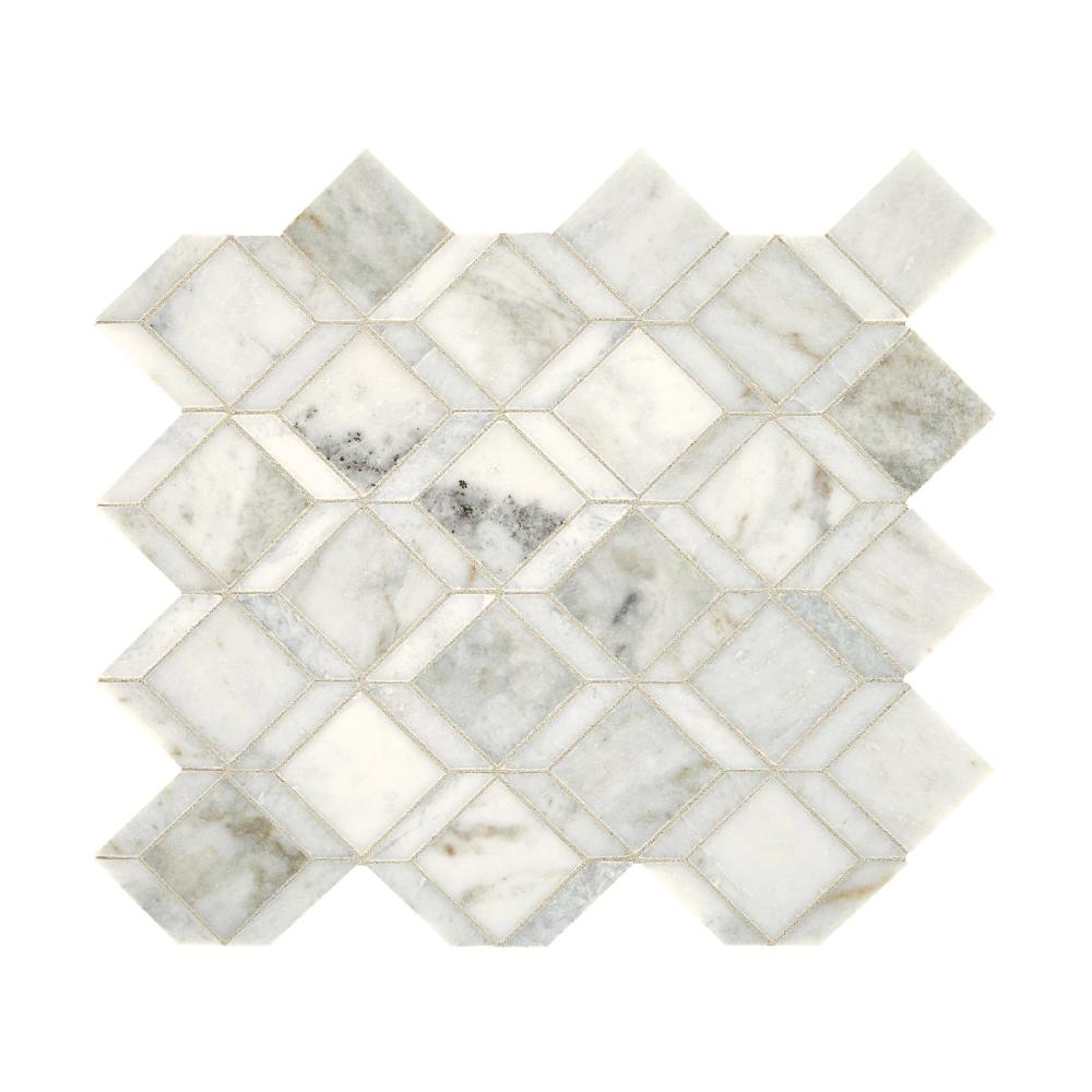 Daltile Sublimity Balance Daphne White Natural Stone Mosaic