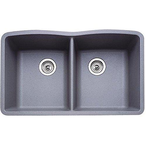 Metallic Gray Silgranit Equal Double Bowl Sink Schillings