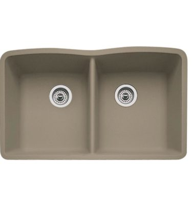BLANCO SILGRANIT TRUFFLE EQUAL DOUBLE SINK