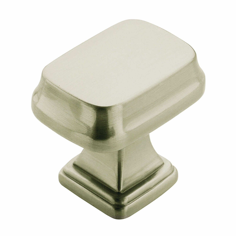 Satin Nickel Revitalize Rectangle Cabinet Knob Schillings