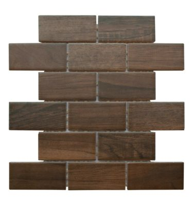 EMBLEM BROWN MOSAIC TILE CERAMIC