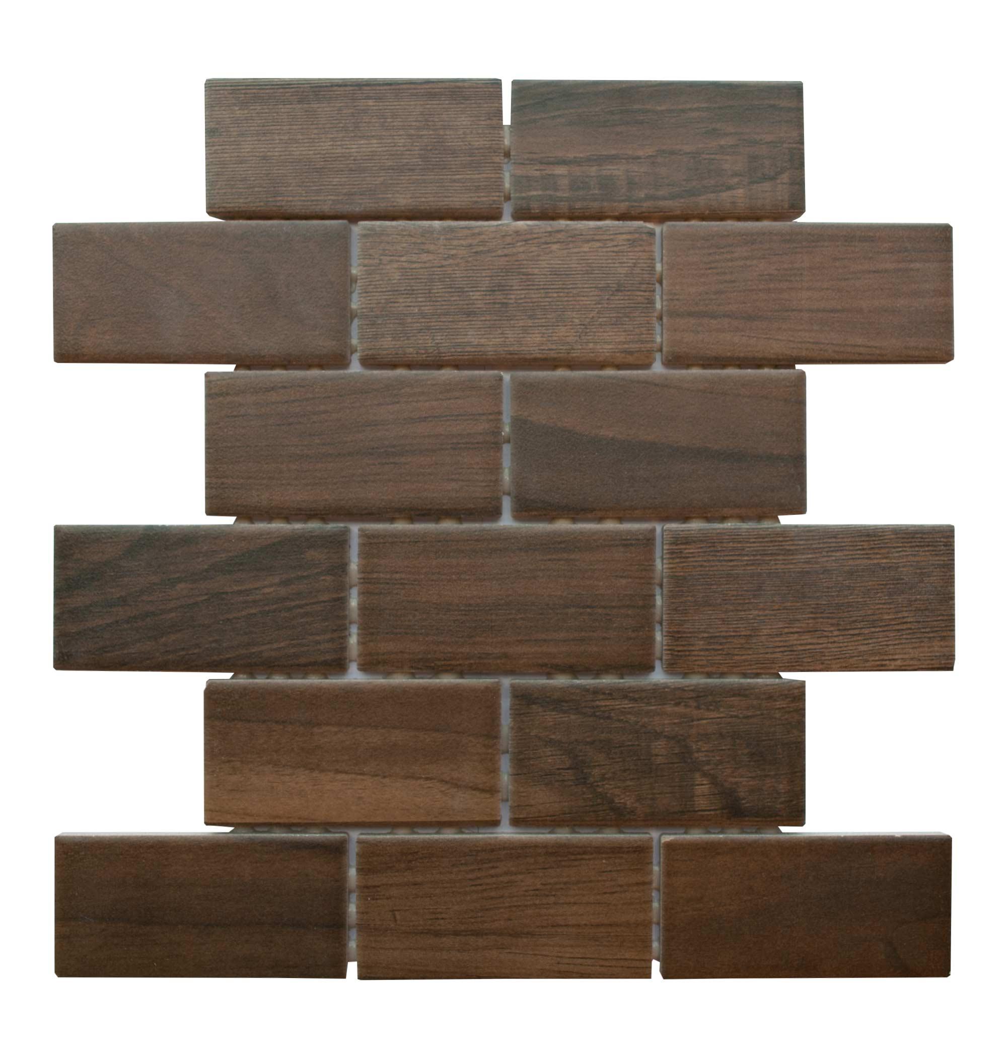Daltile Emblem Brown Mosaic 2 X 4 Schillings