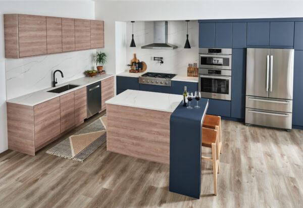 Open Kitchen with Calacatta Arno Quartz Countertops