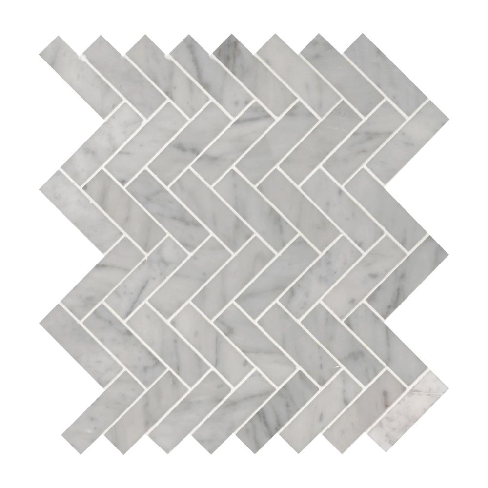 MSI Carrara White Herringbone Mosaic