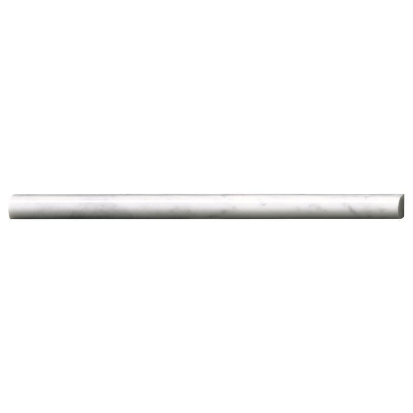 MSI Carrara white pencil molding