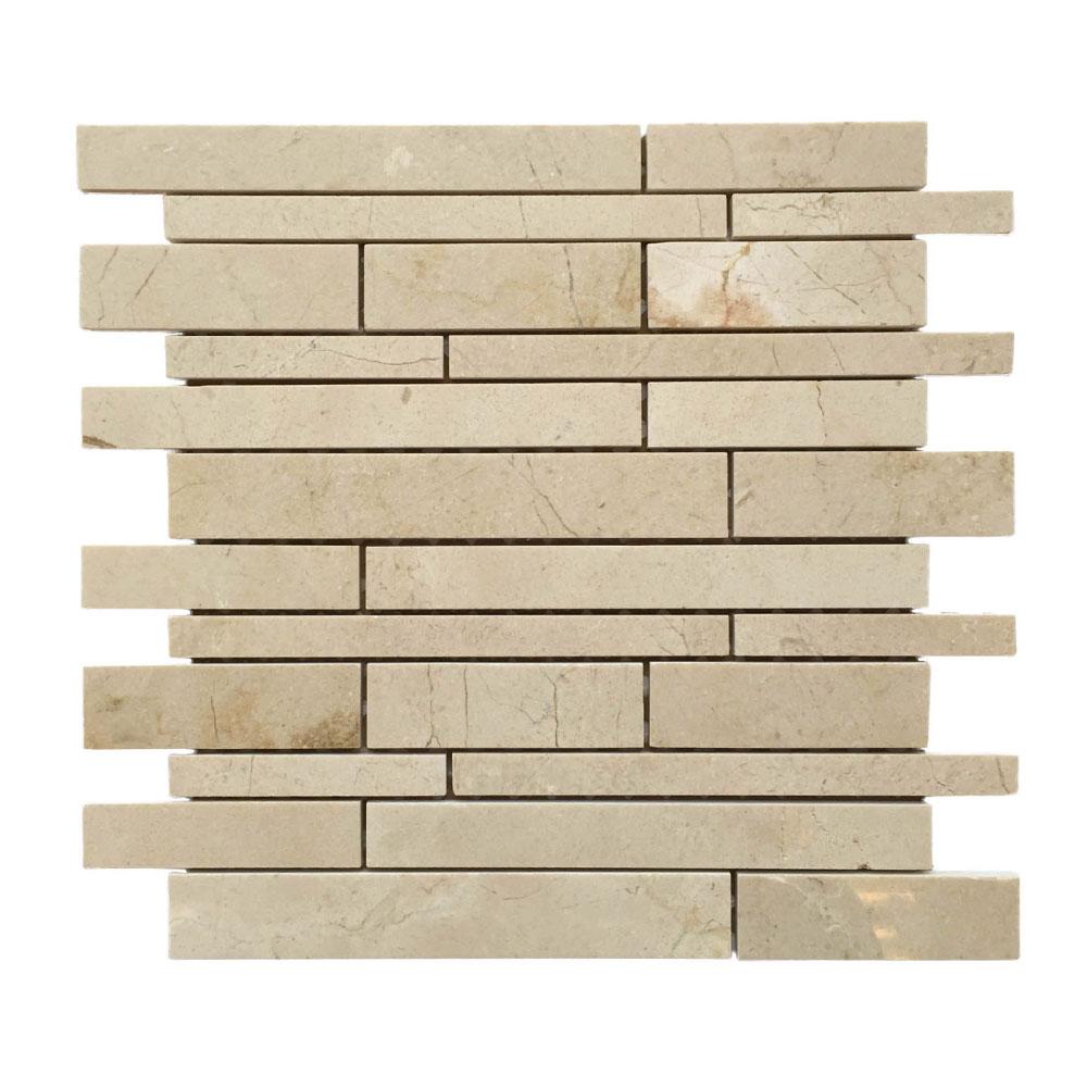 Crema-Marfil-Random-Strip-Mosaic-Tile
