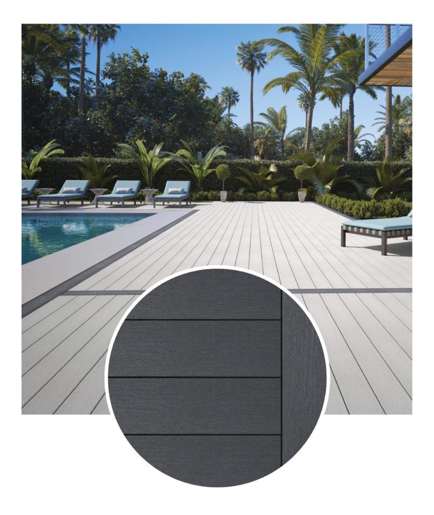 Deckorators Dark Slate Decking Sample & Deck