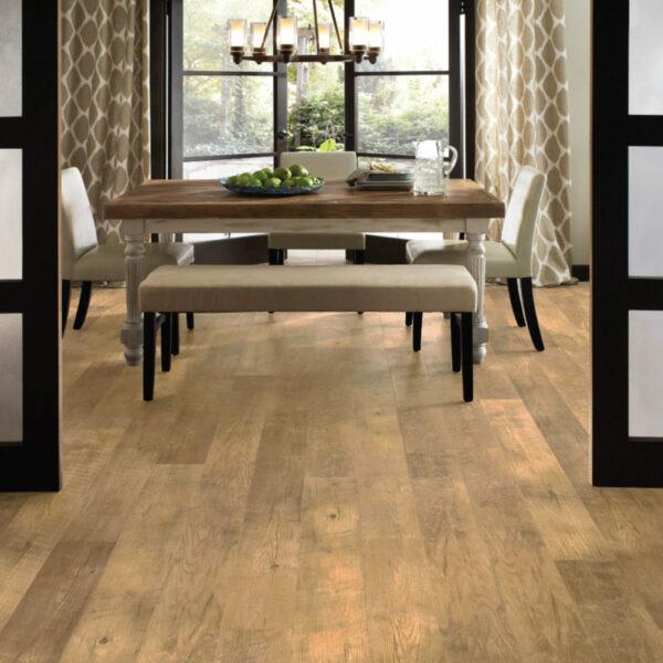 Dining Room with Adura Dockside Sand Vinyl Flooring