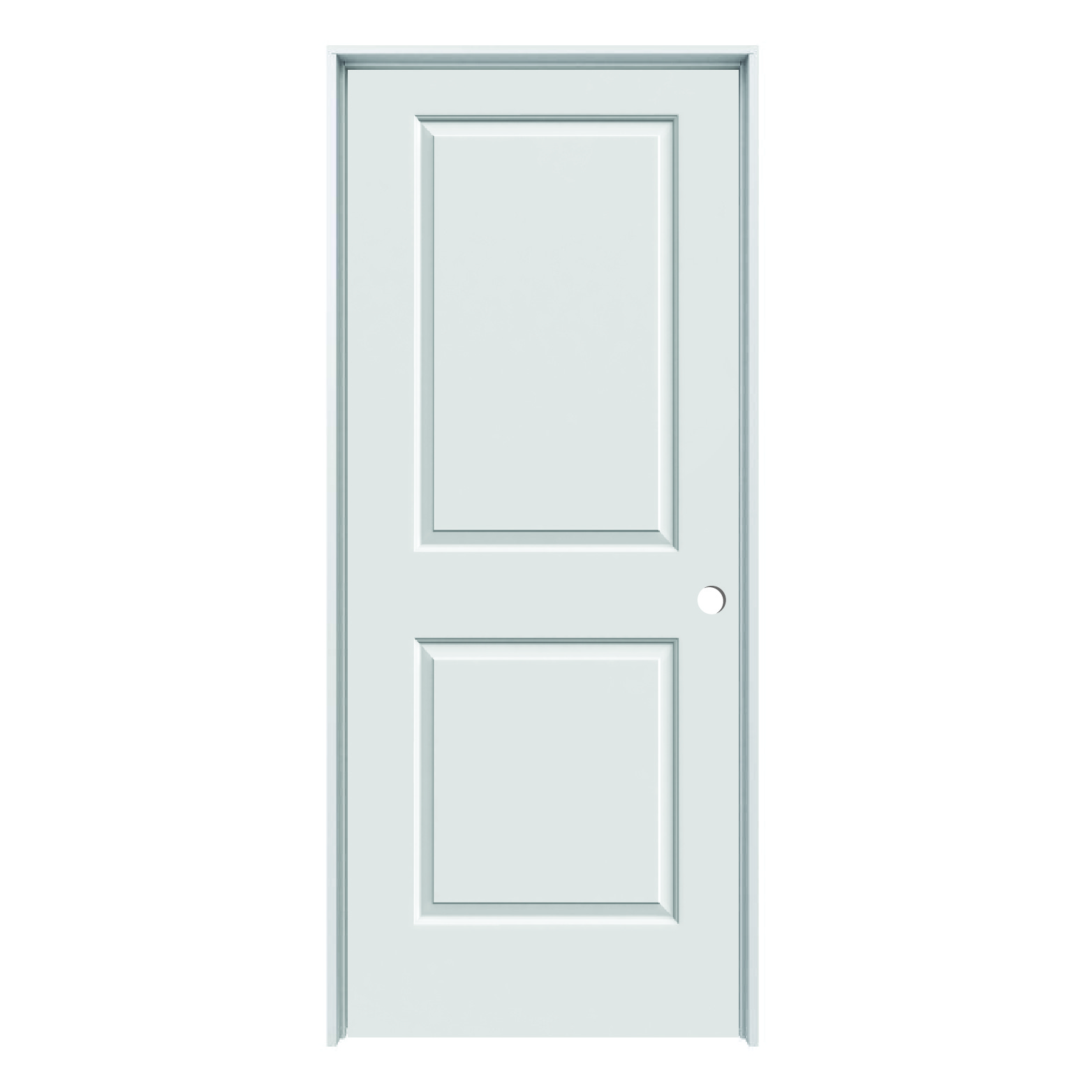 Solid Core Cambridge 2 Panel Prehung Door Lh 32 X 80 Schillings