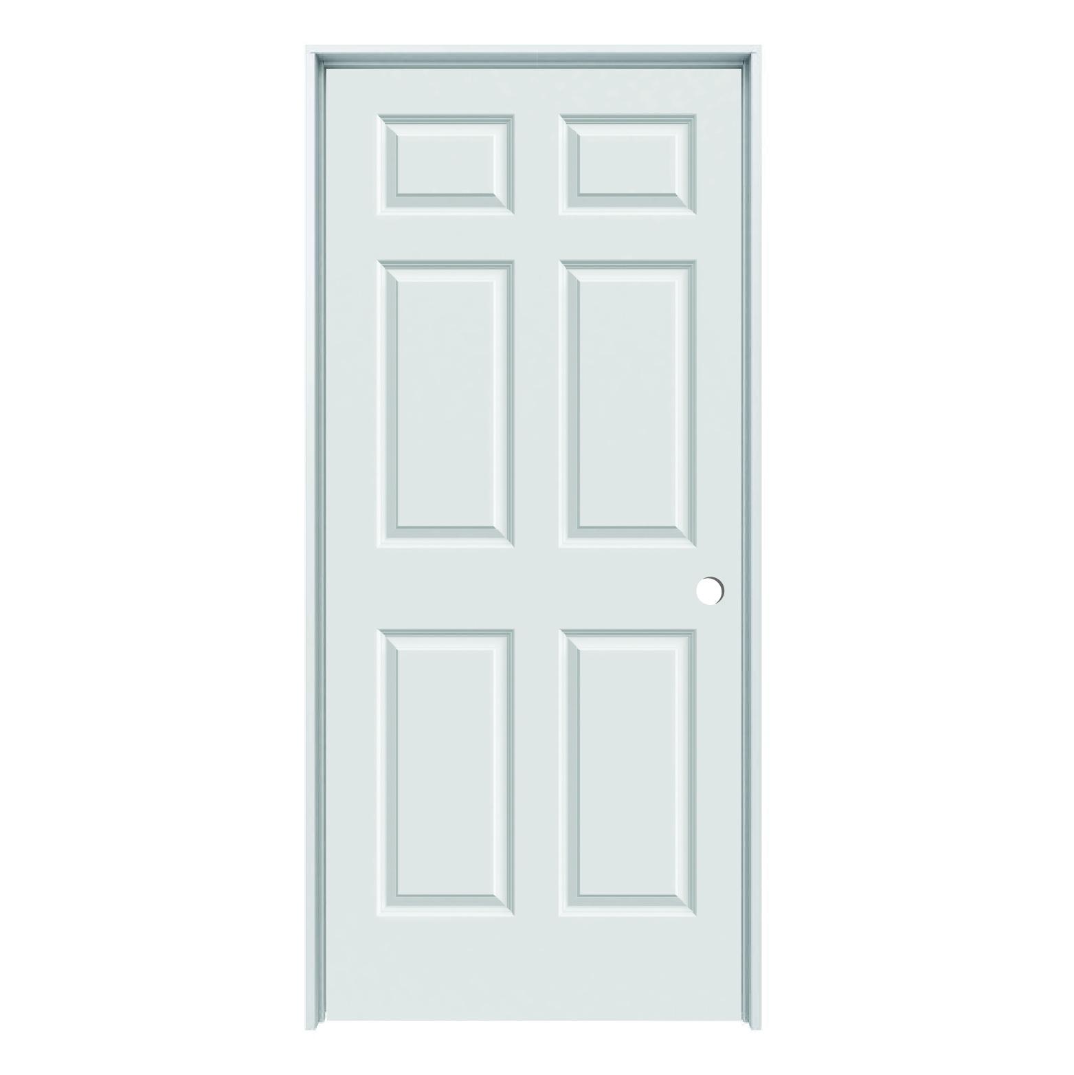 Hollow Core Colonist 6 Panel Prehung Door Lh 36 X 80