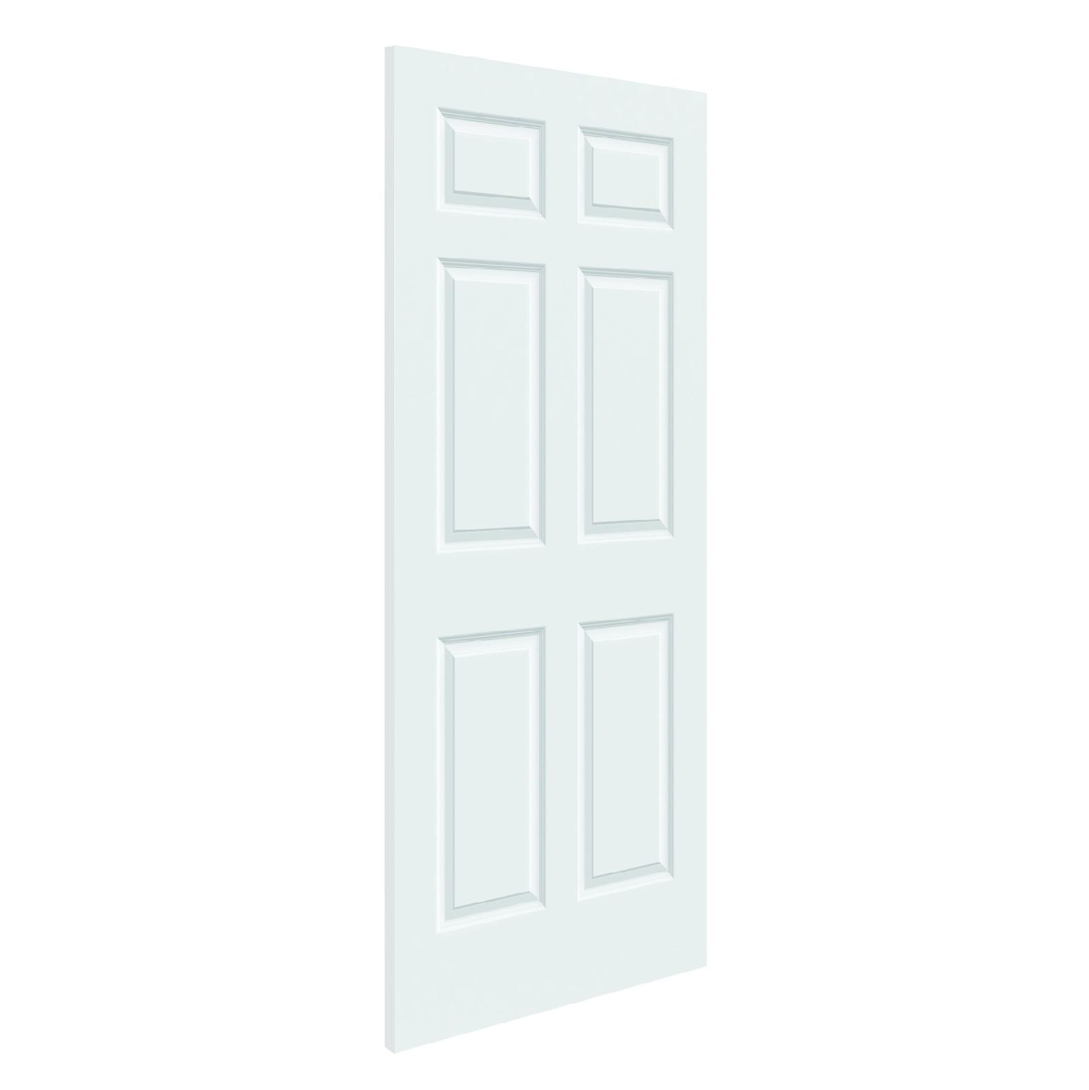 Hollow core colonist 6 panel slab door 32 x 80 schillings for 6 panel oak interior door slab