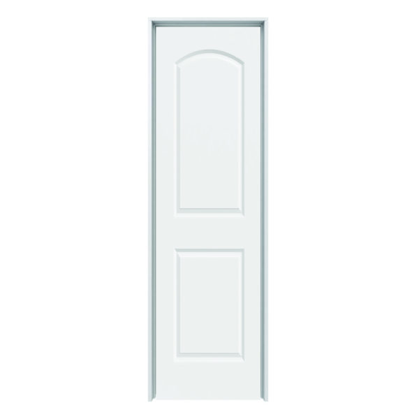 Solid Core Arch Continental 2 Panel Prehung Door Lh 24