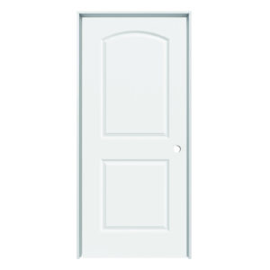 "Solid Core Arch Continental 2-Panel Prehung Door (LH) 36"" x 80"""