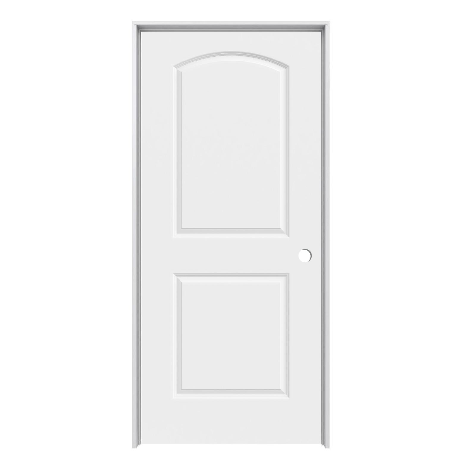 Solid core arch continental 2 panel prehung door lh 32 - Interior prehung solid core doors ...