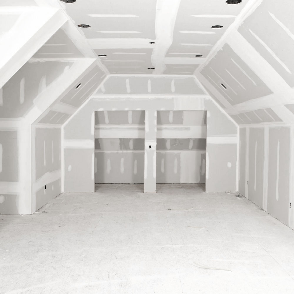 Open Area with Prepped Drywall