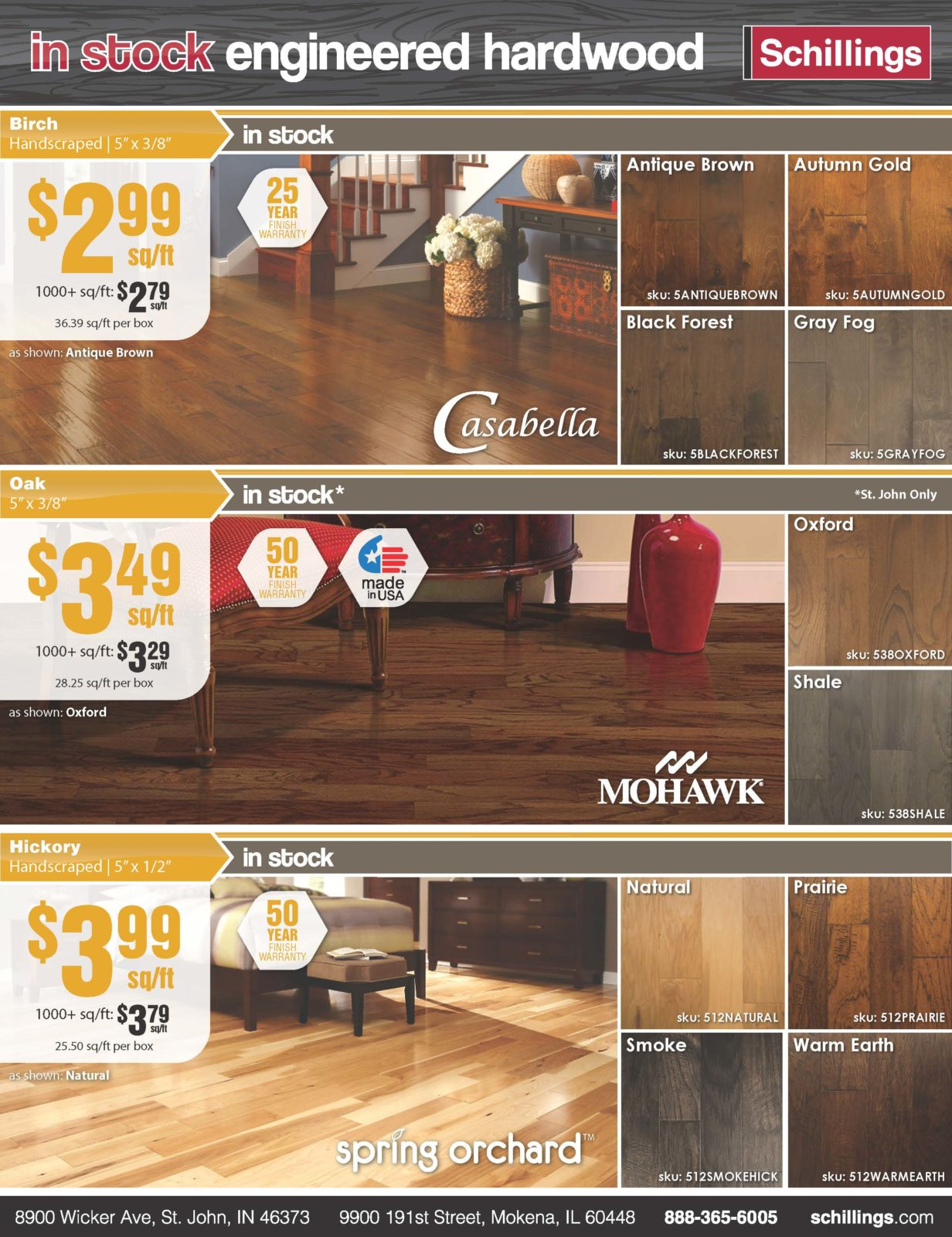 engineered hardwood hot list