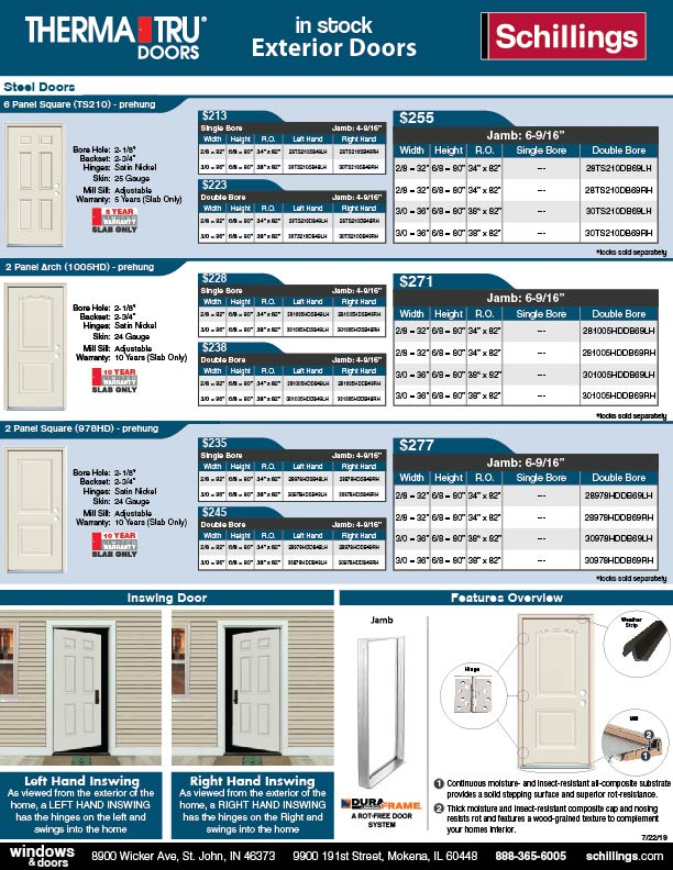 Exterior Steel Door Hot Sheet-01