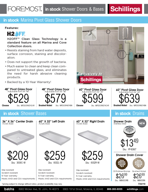 Foremost-Shower-In-Stock-Hot-List